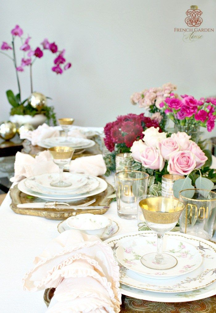 SET A ROMANTIC FRENCH COUNTRY TABLE FOR THE HOLIDAYS Tablescapes