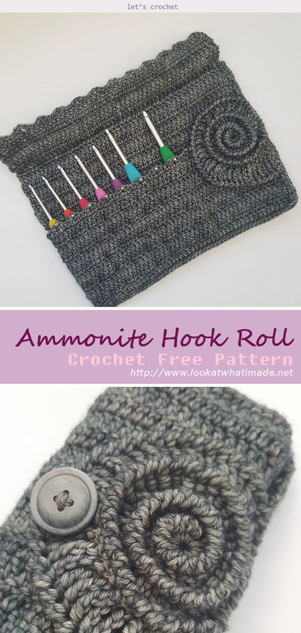 Ammonite Hook Roll Crochet Free Pattern