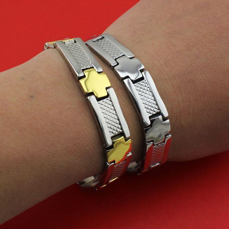 2017 New Selling Men's Cross Power Germanium Magnetic Energy 316L Stainless Steel Bracelet TG04113 Wholesale Free Shipping