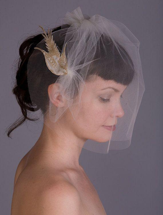Bird in Flight Wedding Veil by Sweet Little Sparrow. PUT A BIRD ON IT... Wedding Edition!