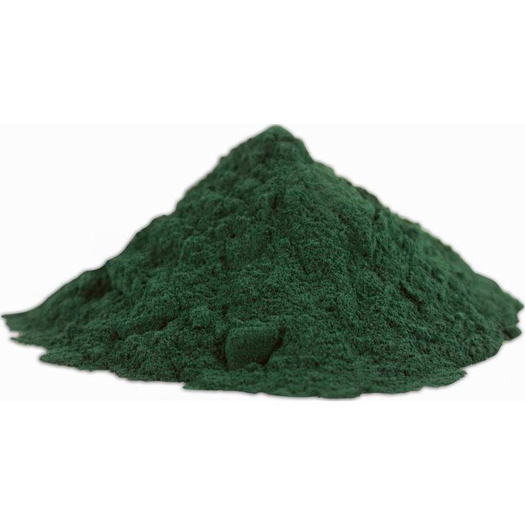 Alga Spirulina Pura en polvo Tienda Oeste. La espirulina (Spirulina maxima) es una alga de agua dulce, con forma de espiral, de color azul verdoso por la presencia de clorofila que le da el color verde y de ficocianina, pigmento que le da el color azulado.