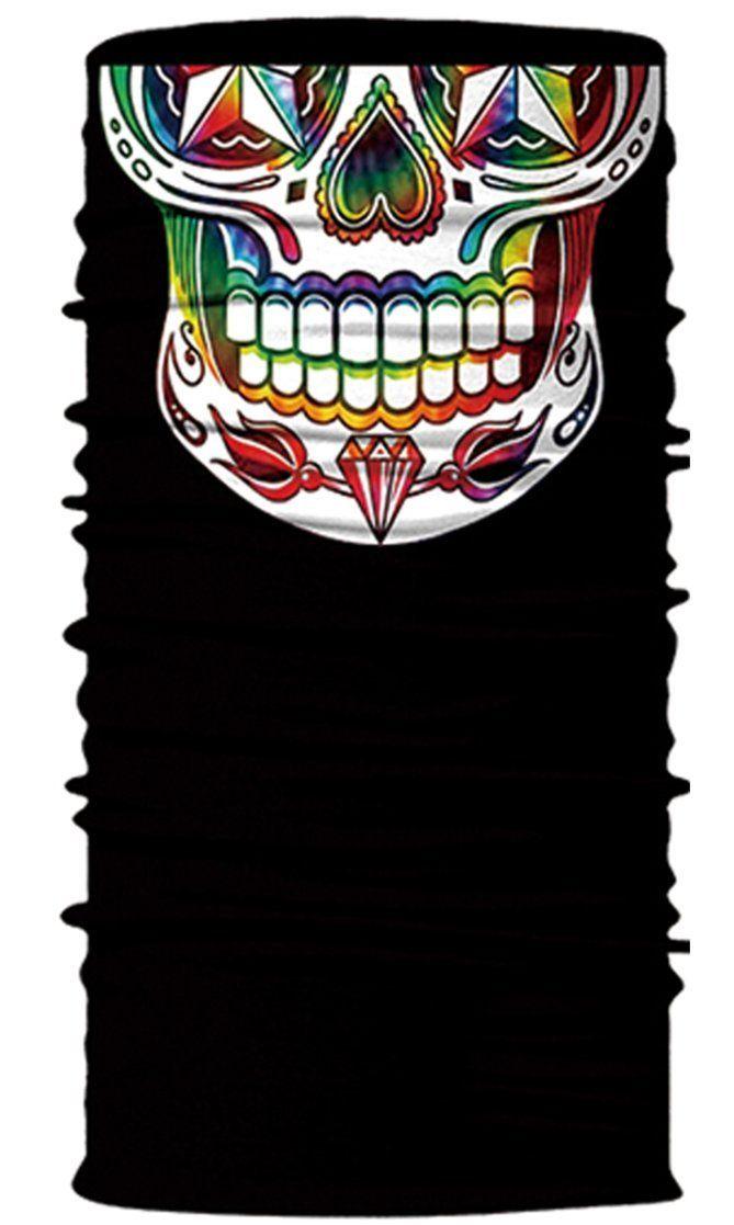 Sugar Skull Face Mask Tube Bandana Balaclava Snowboard Harley Davidson Snowboard Ski Mask Multi Function Tactical Seamless