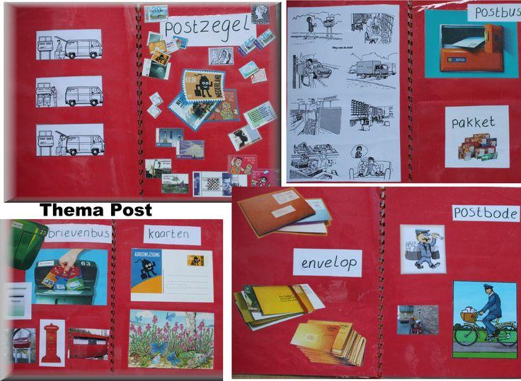 Met plaatjes uit folders en tijdschriften kun je een boekje voor in de leeshoek maken.