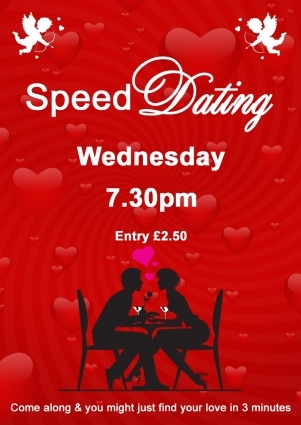 Speed dating poster
