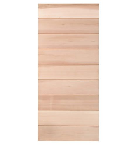 """36"""" Cedar Horizontal Plank Door Kit Clear Finish - kit meaning you put it together, not that it is a door plus hardware."""