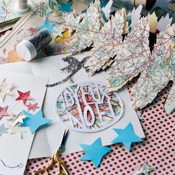 Créer une carte de vœux avec une carte routière / A greeting card made with an old map