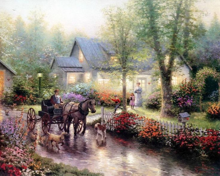 """Carriage Stroll"" by Thomas Kinkade 4/4/14"