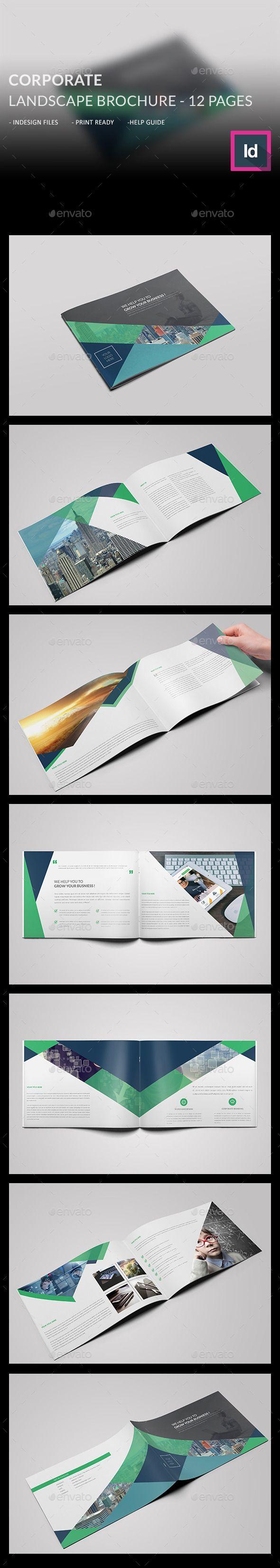 Corporate Landscape Brochure Template #design #broschüre Download: http://graphicriver.net/item/corporate-landscape-brochure-/12499337?ref=ksioks