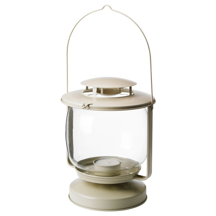 M rkt lantern for candle in metal cup beige indoor - Laterne ikea ...