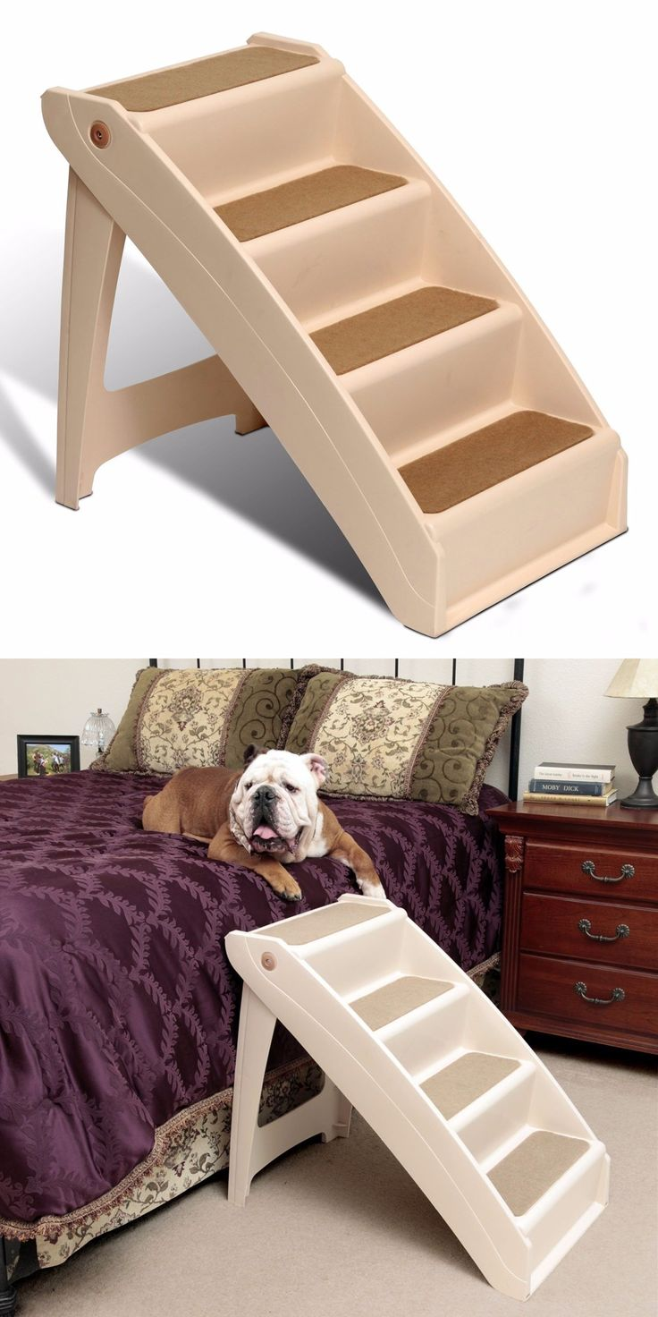 Ramps And Stairs 116389: X Large Pet Dog Stairs Tall High Bed Car Ladder