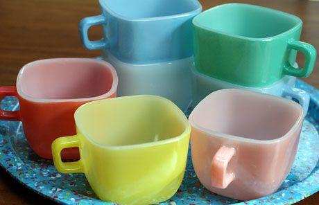 Seven vintage Lipton soup cups - Glasbake