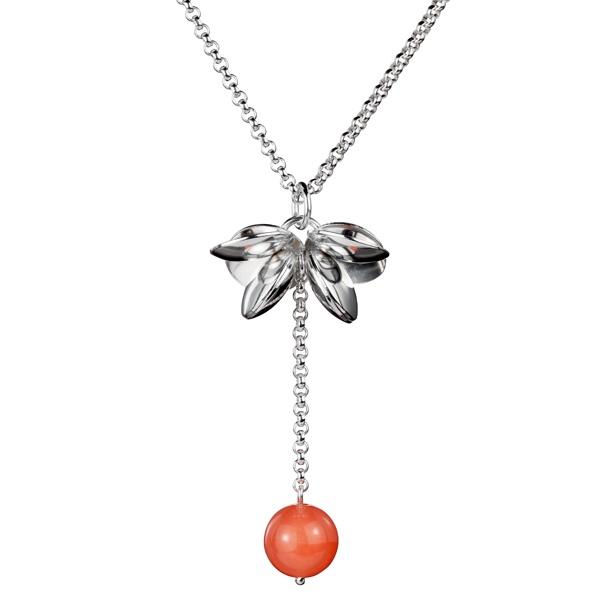Kalevala Koru / Kalevala Jewelry / BOOGIE PENDANT  Designer: Elina Makkonen, material: silver, stone: dyed quartz