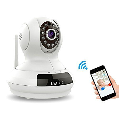 WiFi Camera LeFun 720p Wireless Surveillance Camera IP Cam Nanny Cam with Pan Tilt Zoom Motion Detect Two Way Audio Night Vision Remote Control 2.4G WiFi for Baby Monitor and Wireless Security Camera