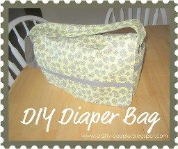 Crafty Couple shows how to make a diaper bag with loads ofpockets – side pockets for sippie cups, and interior pockets for diapers and wipes and allthe other stuff you need to carry.A larg…