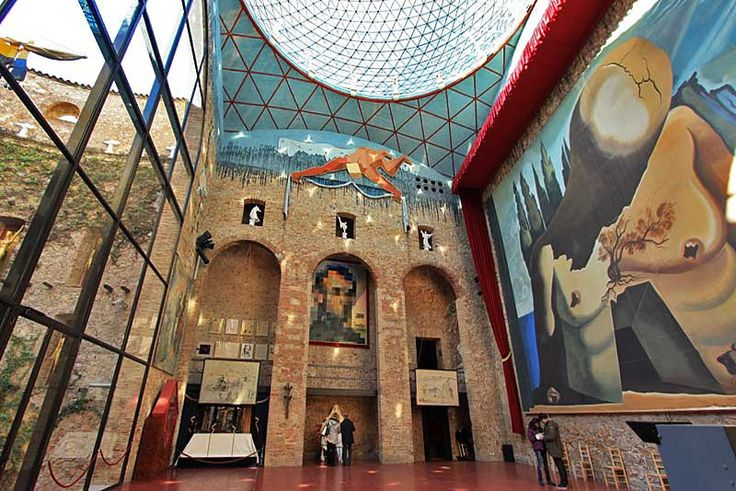 One of Salvador Dali's Giant Surreal Masterpieces is Displayed in Main Hall at the Artist's Museum in Figueres, Spain