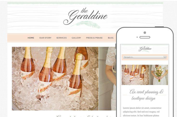 Geraldine Theme ~ WordPress Themes on Creative Market