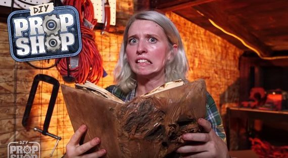 """AWE Me's latest """"DIY Prop Shop"""" episode shows you how to make your very own Necronomicon from the horror classic. Monsters not included."""