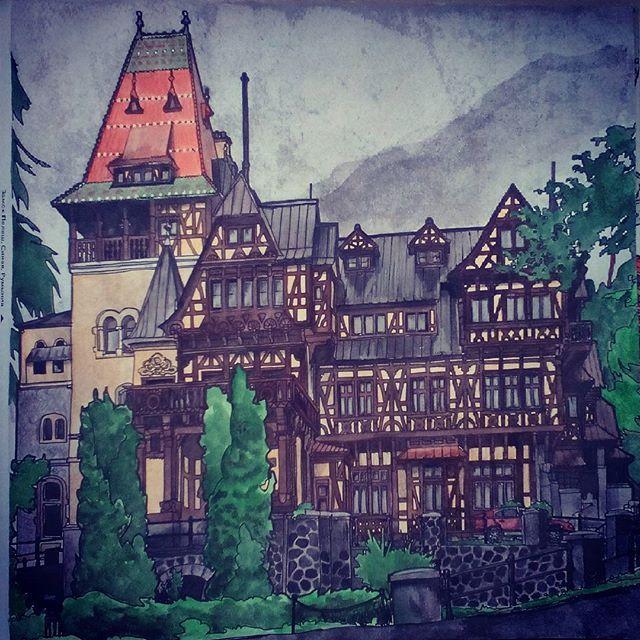 #stevemcdonald #fantasticstructures #art #artbysteve #artwork #artbook #colorbook #peleshcastle #pelesh #romania  Finished! Замок Пелеш (Castelul Peleş) расположен на средневековом пути, соединяющем Трансильванию и Валахию, в живописном месте Карпат, неподалеку от города Синая в Румынии. Замок был построен в стиле неоренессанса между 1873 и 1914 годами, его инаугурация состоялась в 1883 году. Имя ему дала протекающая неподалеку горная речка. В настоящее время замок является историческим…
