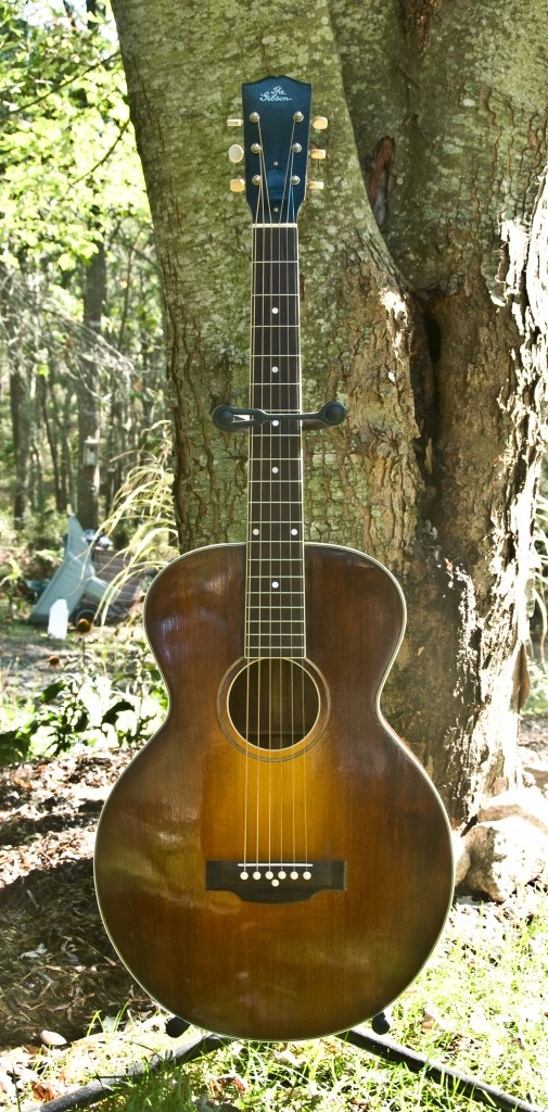 The Gibson L-1 was a depression era guitar, very lightly constructed and small in size. Very few of them made in through the generations…they just were not built for longevity.