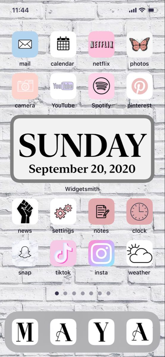 Aesthetic Home Screen in 2020 Homescreen, Cute patterns