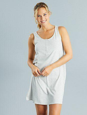 Camicia da notte allattamento cotone $selectedProduit.getColorisLabel() Premaman - Kiabi