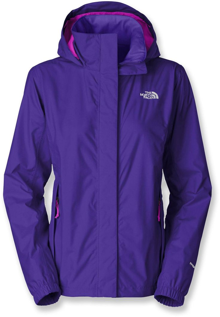 Stay dry in The North Face Resolve Rain Jacket - Women's. Available in a variety of colors!