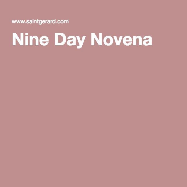St. Gerard Nine Day Novena