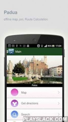 Padua Map Offline  Android App - playslack.com ,  Padua (Italy) Map offline - is an application that allows you to view online and offline Padua map in yourmobile phone. 2 types of maps are attached in application: 1st map: Offline map. You can download it in Wi-fi service area and use without Internet.2nd Map: Online map. Allows you to search for addresses, save points on the map. Map access is free of charge.Application functions are available: 1. Add any objects to your favorites. 2. Add…