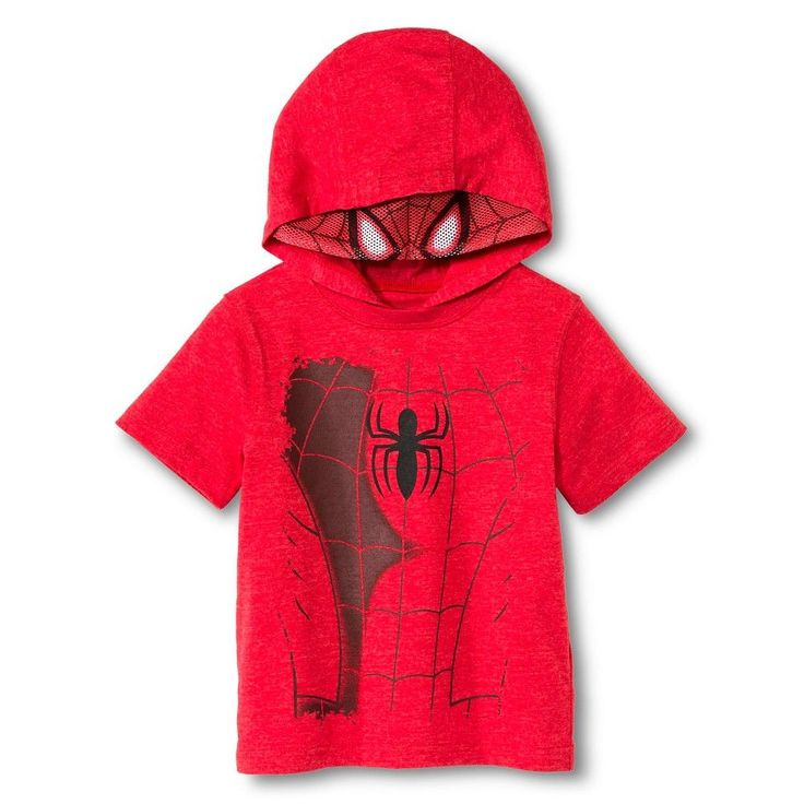 Toddler Boys' Spiderman Hooded Costume Tee - Red 18 M, Toddler Boy's, Size: 18 Months