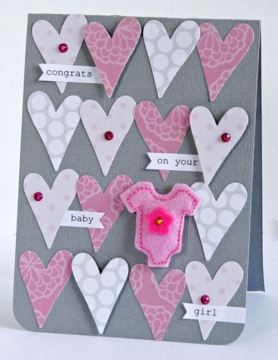 I think I will be making this card for my coworker, who is having a little girl in August.