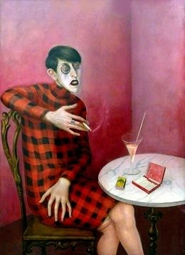 Portrait of the Journalist Sylvia von Harden by Otto Dix; another one of his strange portraits.... love it!