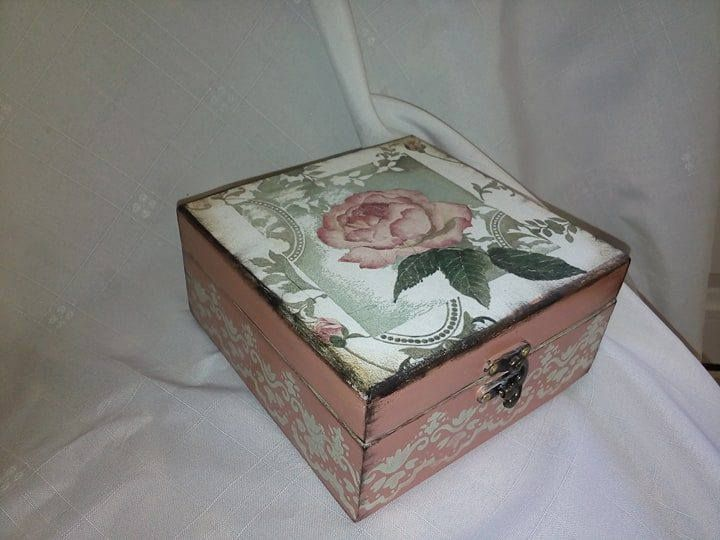Excited to share the latest addition to my #etsy shop: DECOUPAGE WOOD BOX http://etsy.me/2Di8f79 #art #wood #decoupageonwood #decoupage #handmade #vintagedecor #box #decoupagebox #woodenbox