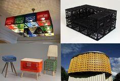 Reciclaje con palets y cajas, Reciclatge amb palets i caixes, Recycling pallets and boxes, Palettes et des boîtes de recyclage, Pallet riciclaggio e scatole, Recycling-Paletten und kartons.