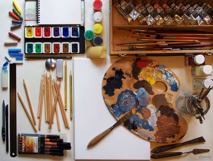 MESA DE TRABAJO (COLOR) - DIBUJO Y PINTURA - Creado por 'el Lápiz de Alicia', para 'Los colores del Lápiz'.