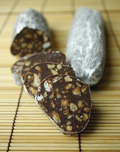 le meilleur saucisson au chocolat ( si si ! )C'est pas toi qui mangeait ça Bérengère??????