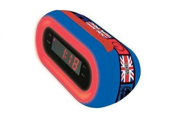 RADIO SVEGLIA - CON BANDIERA  UK (INGLESE)  -  RL140JCUKR