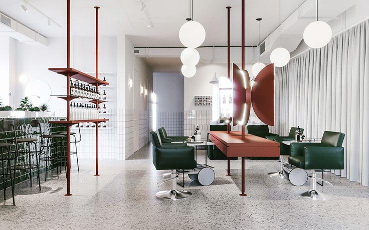 Interior design and architecture for Odes Salon by Evgeniy Bulatnikov and EmilDervish See more: http://mindsparklemag.com/design/odes-salon-interior-design/  More news: Like Mindsparkle Mag on Facebook