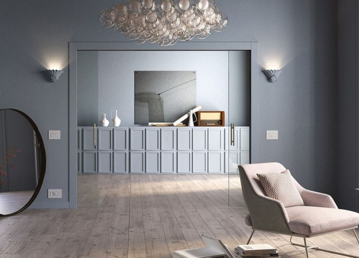 Double pocket door systems with wiring-channels built in.