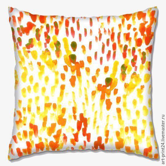 """Купить Подушка декоративная """"Осенние листья"""" - комбинированный, Подушки, подушки декоративные, подушки диванные"""