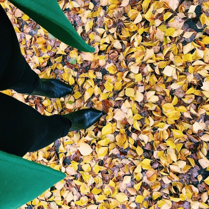 Winter with Freelance Shoes- loving the leaves!