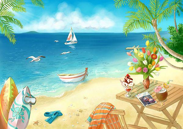 Sea Resort, the azure sea, the sandy beach! #Boat #sail #sand #beach #sea #ocean #surf #cocktail