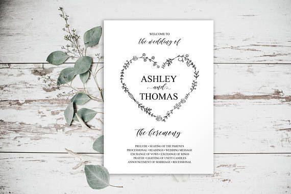 wedding program templates wedding program weddings invitation