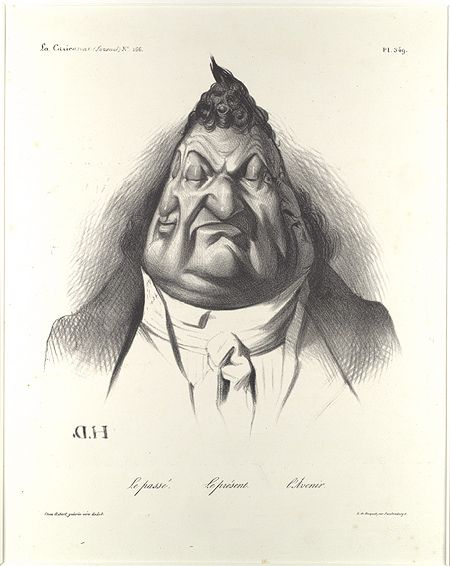 Honoré Daumier, Past, Present, Future: Caricature of French King Louis-Philippe, La Caricature, January 9, 1834.