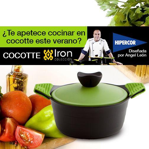 ¿Te apetece cocinar en cocotte este verano? Descubre la batería de cocina Iron by Ángel León en Hipercor y ¡disfruta del placer de cocinar!