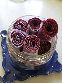 Fruit Leather in the dehydrator