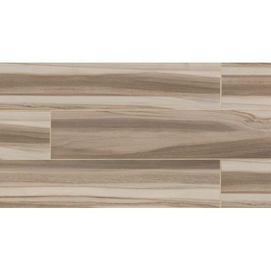 Bedrosians Arrowhead Series Glazed Wood Look Ink Jet Porcelain Field Tile Color Beige 8x36