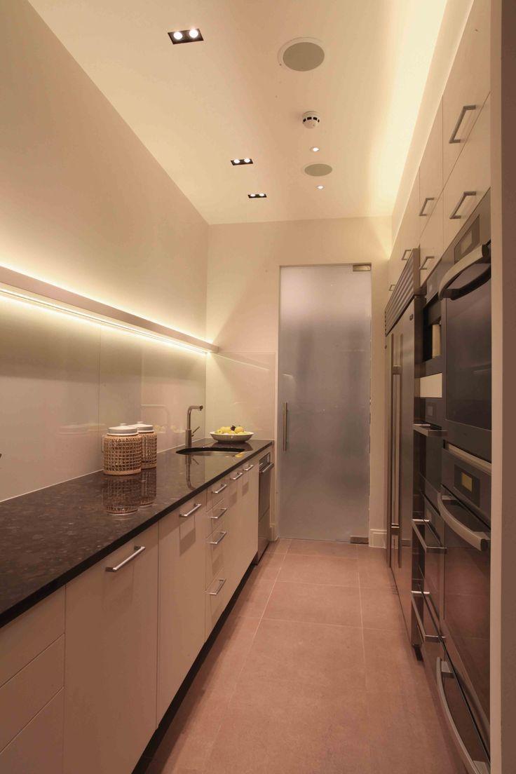 Wohnzimmerwand-nischenentwürfe küche licht armaturen küche downlights anhänger beleuchtung led