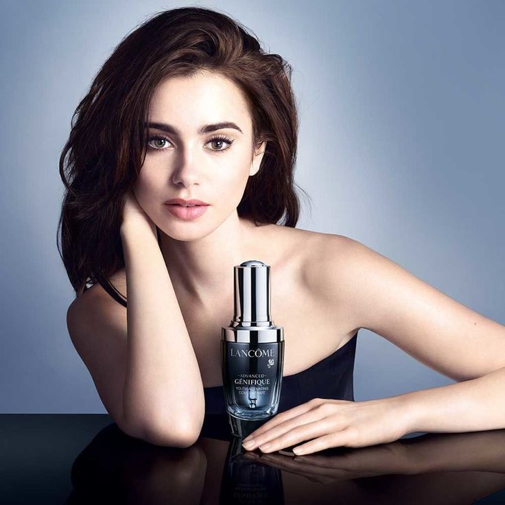 Lily Collins for Advanced Génifique Lancome 2015 campaign