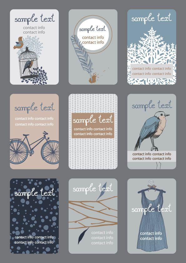 Best Namecard Images On Pinterest Business Cards Business - Cute business cards templates free