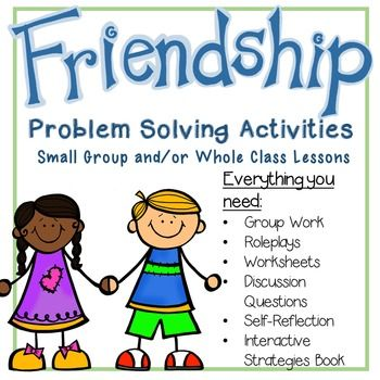 """5 Lessons that focus on Problem Solving with Friendship!  Great for grades 2-4 - Includes:  role plays, self-reflection, worksheets, interactive notebook and """"I"""" message worksheet."""